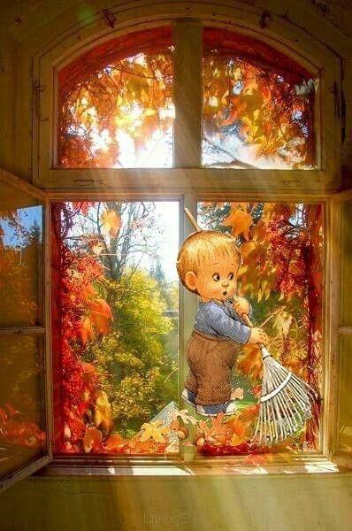 Je ramasse les feuilles ....