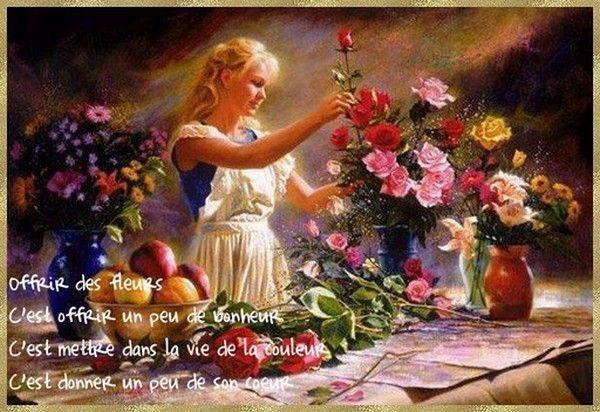 Offrir des fleurs .....